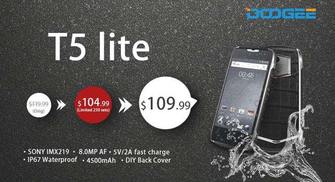 DOOGEE T5 Lite è il nuovo smartphone per i business-sport men del futuro