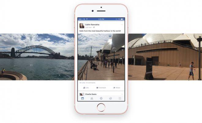 Facebook Foto: aggiornamento per la visualizzazione a 360 gradi