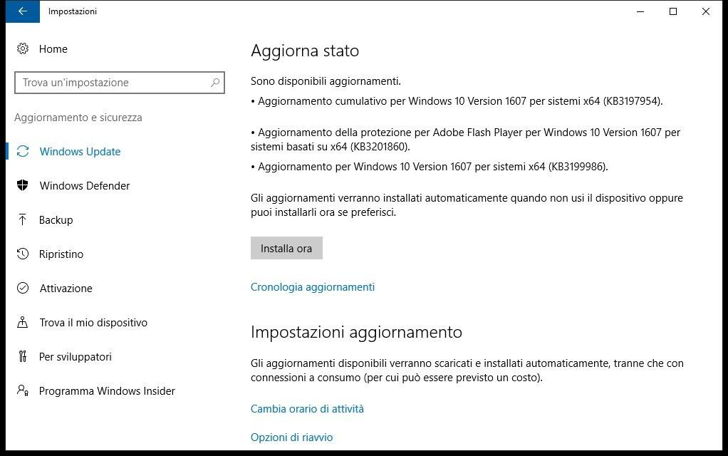 Windows 10 build 14393.351