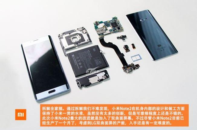 Xiaomi Mi Note 2, arriva il teardown che ne svela i dettagli