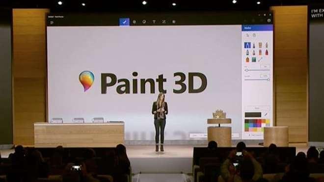Microsoft Paint 3D mostrato in alcuni video di presentazione