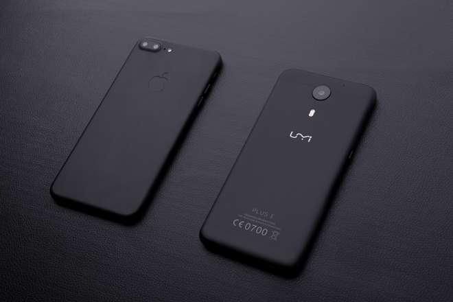 Umi E Plus realizzato in colore nero opaco come iPhone 7