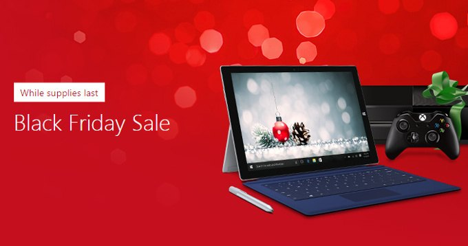 Black Friday Microsoft: Surface Pro 4 da 779€, Xbox One da 199€ e molto altro