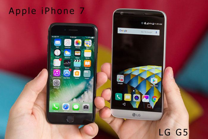 Migliori smartphone – Apple iPhone 7 vs LG G5: confronto con foto!