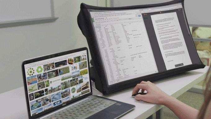 Cerchi un monitor portatile pieghevole? Ci pensa una start-up su KickStarter