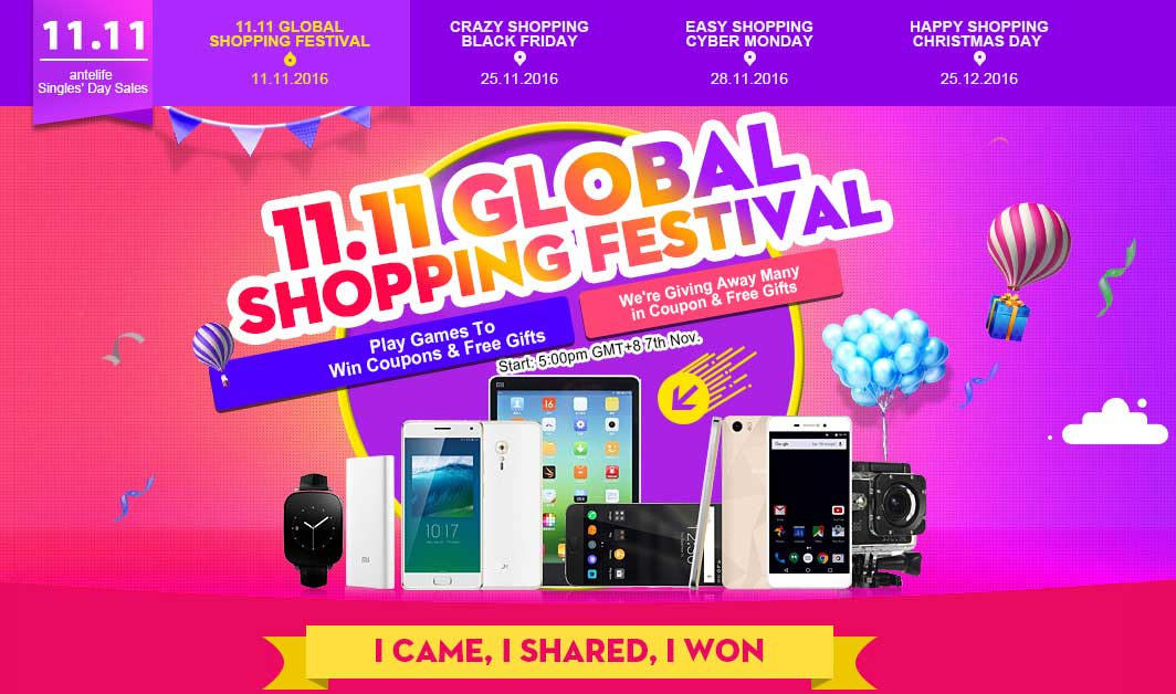 Offerte smartphone, sconti e regali al Global Shopping Festival Antelife!