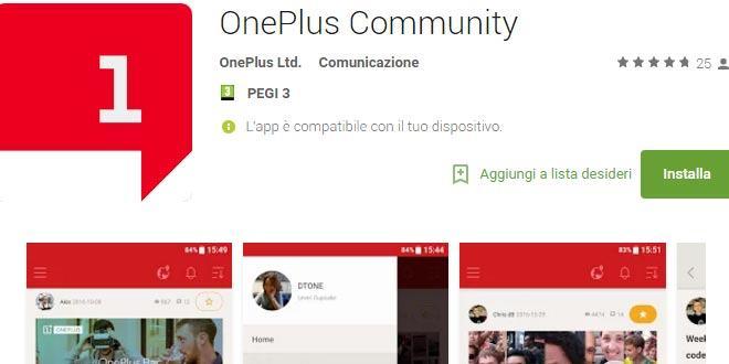 OnePlus Community su tutti i dispositivi Android: il forum OnePlus a portata di app