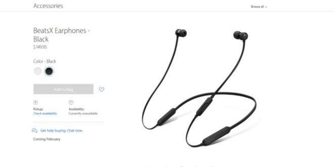 Apple BeatsX rimandate ufficialmente a febbraio
