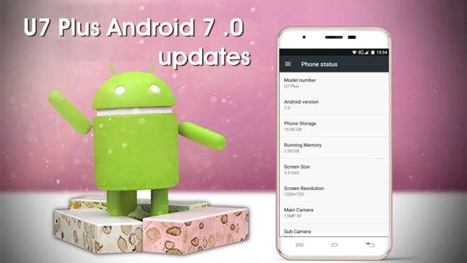 OUKITEL U7 Plus si aggiorna ad Android 7.0 Nougat