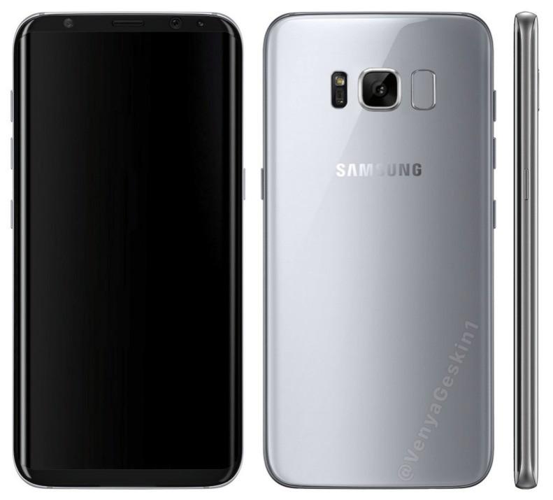 Samsung Galaxy S8, un nuovo render svela il reale design