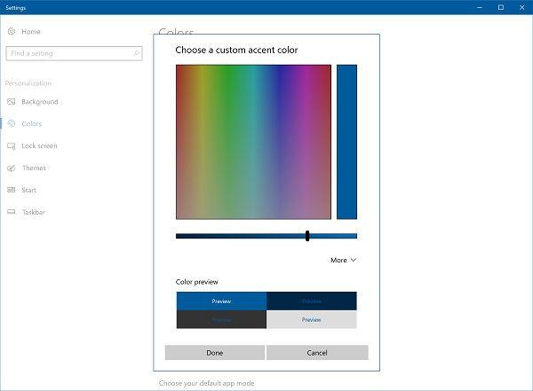 Windows color pick