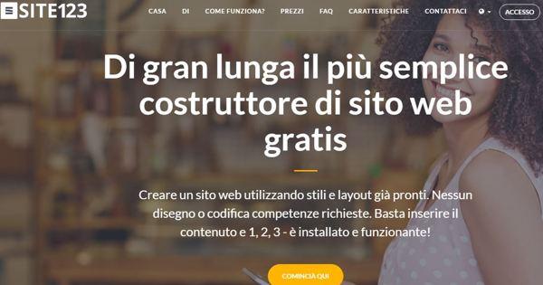 Realizzato da SITE123 il più innovativo 'website builder'