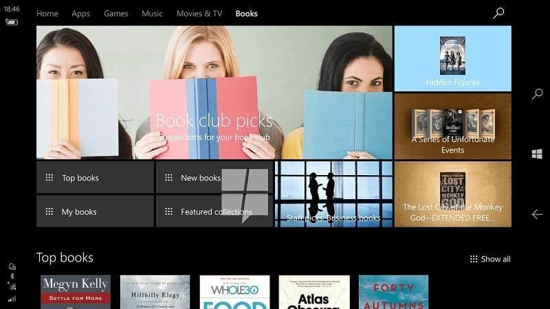 Windows 10 Creators Update, in arrivo gli ebooks nello Store ufficiale