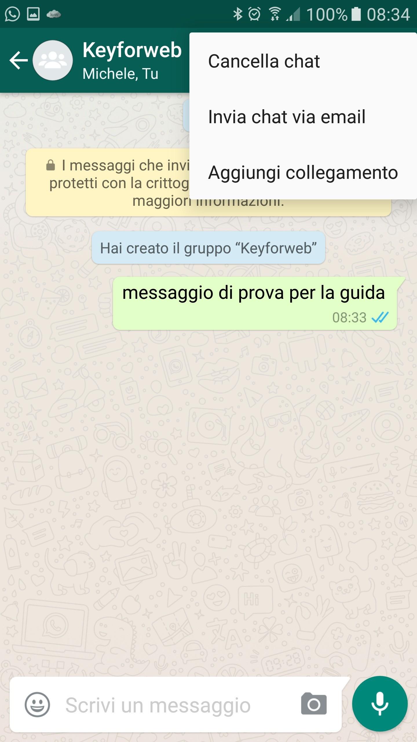 eliminare un gruppo su WhatsApp