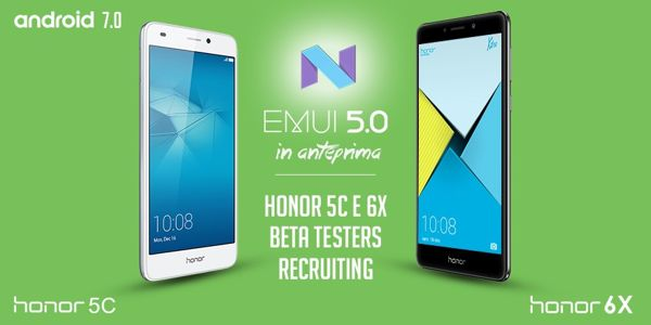 Android 7.0 Nougat per Honor 6X e Honor 5C disponibile in Italia con il programma beta