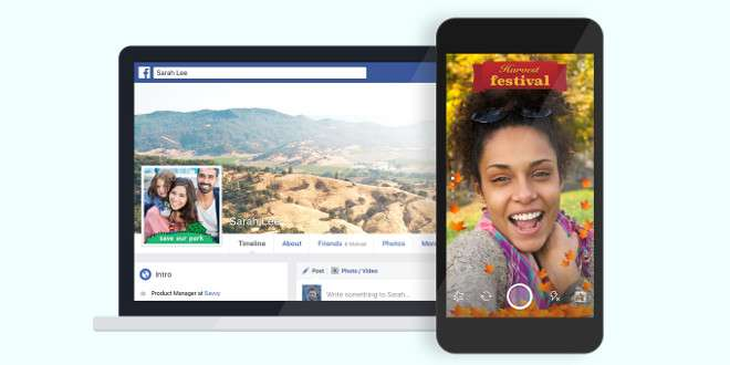 Facebook lancia la funzione Effetti Fotocamera