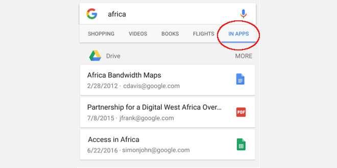 Google abilita la ricerca nei file di Google Drive su Android