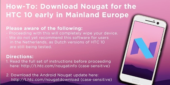 HTC 10 torna a ricevere Android N ufficialmente, disponibile anche in download manuale