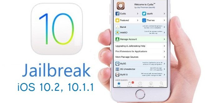 Jailbreak iOS 10.2 per iPhone 6S, iPad ed iPod Touch di sesta generazione