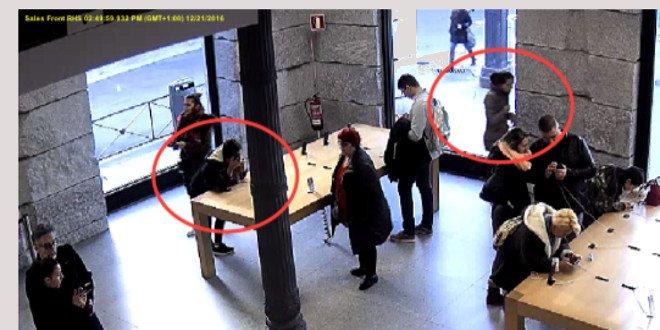 Mordevano il cavo di sicurezza per rubare gli iPhone