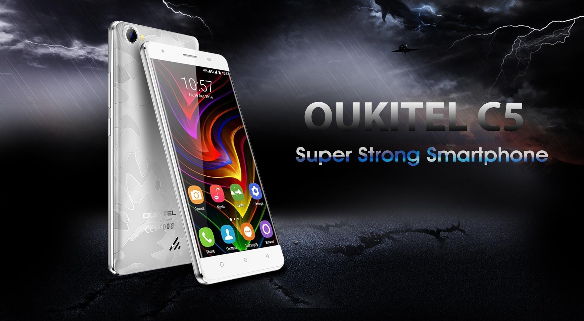 OUKITEL C5, prezzo super economico, connettività 3G e Android 7.0 Nougat
