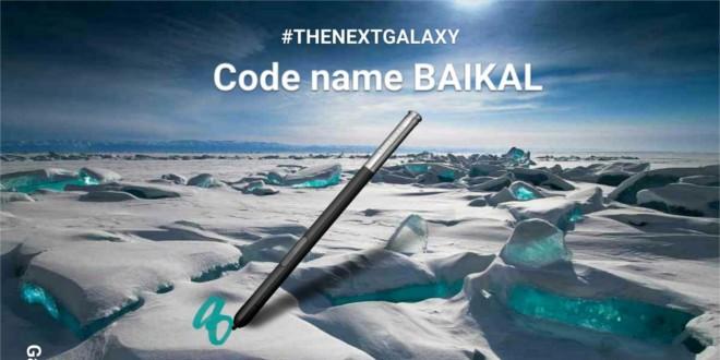 Samsung Galaxy Note 8, codice Baikal, è in lavorazione