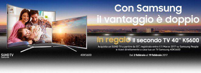 Samsung promo: se acquisti una SUHD in regalo una TV 40K5600