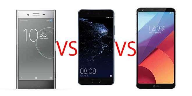 Sony Xperia XZ Premium vs Huawei P10 Plus vs LG G6
