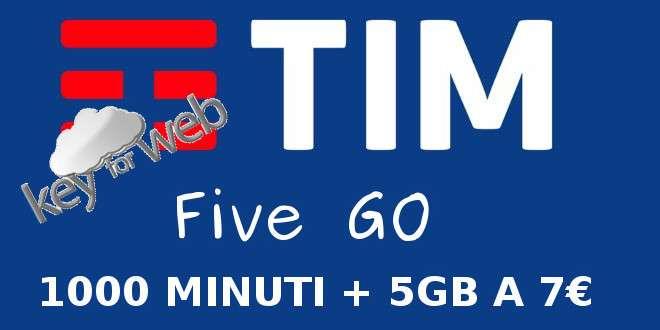 TIM Five GO: per chi passa a TIM 1000 minuti e 5GB di traffico dati a 7€
