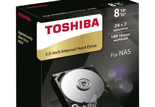 Toshiba aumenta a 8 TB la capacità dell'Hard Disk N300