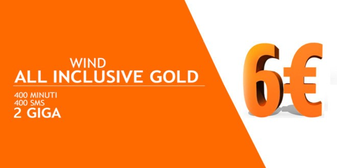 Wind All Inclusive Gold di nuovo attivabile con codice promo
