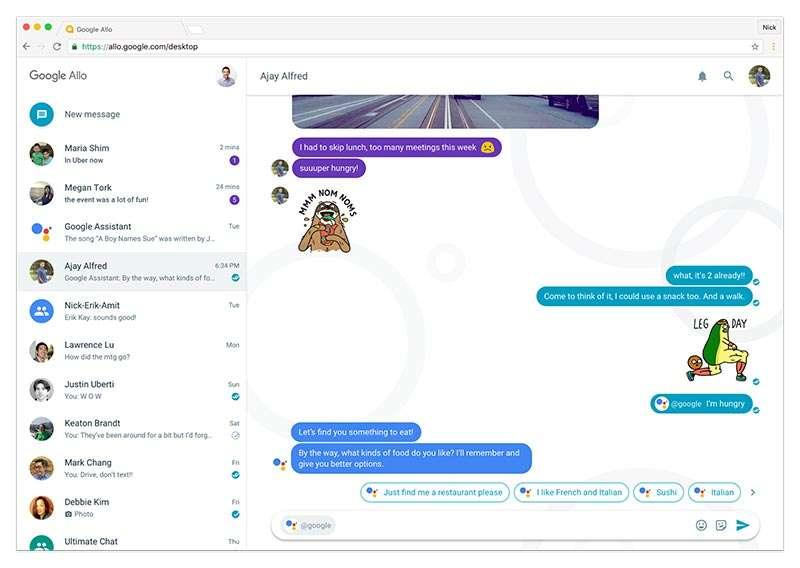 Google Allo, novità in arrivo: presto una versione desktop