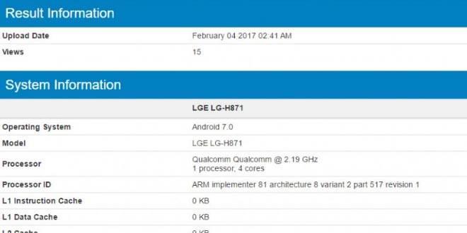 LG H871 con Snapdragon 820 appare su GeekBench: LG G6 è qui?