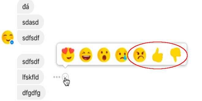 "Messenger:  Facebook testa nuove reaction ed il tasto ""Non mi piace"""