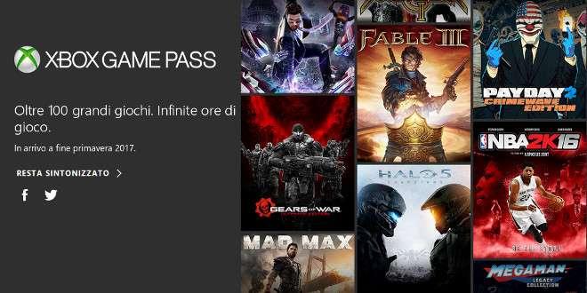 Microsoft presenta Xbox Game Pass, il Netflix dei videogame