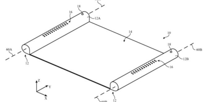 Nuovi dispositivi con schermi a scomparsa, ecco come Apple immagina il futuro
