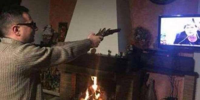Prete spara alla Camusso in TV, polemica social