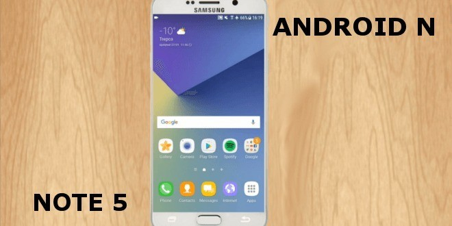 Samsung Galaxy Note 5: Android N arriva ufficialmente in Europa