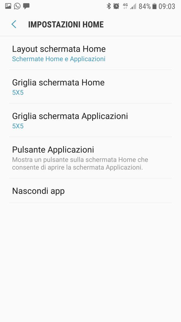Come abilitare il pulsante app drawer su Galaxy S8 e S8+
