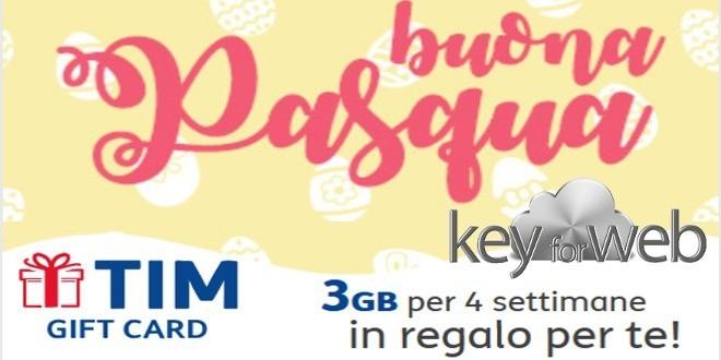 A Pasqua TIM offre 3GB in 4G, anche come gift card