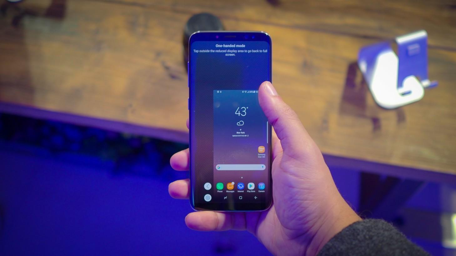 Samsung Galaxy S8, come utilizzarlo semplicemente con una mano