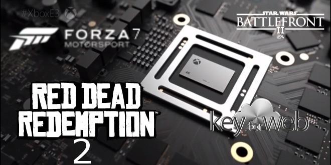 Xbox Scorpio potrebbe essere presentata settimana prossima insieme a Forza Motorsport 7, Red Dead Redemption 2 e Star Wars Battlefront II