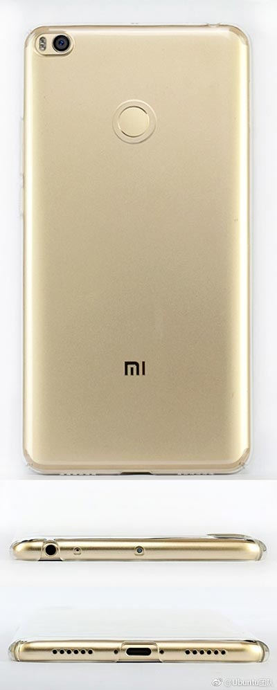 Xiaomi Mi Max 2, design svelato da una cover posteriore trasparente