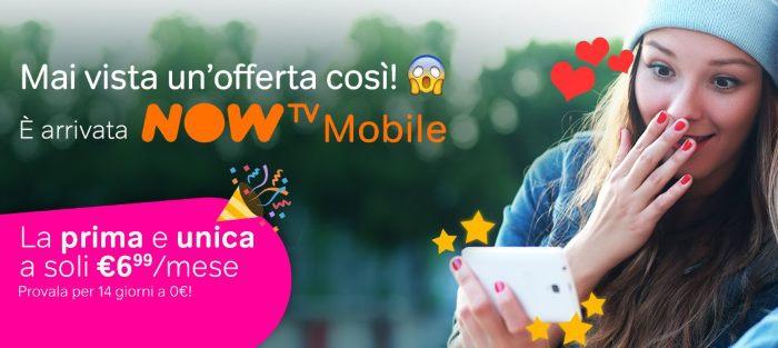 Offerta Now TV Mobile, serie TV ed Intrattenimento a soli 6,99 euro al mese