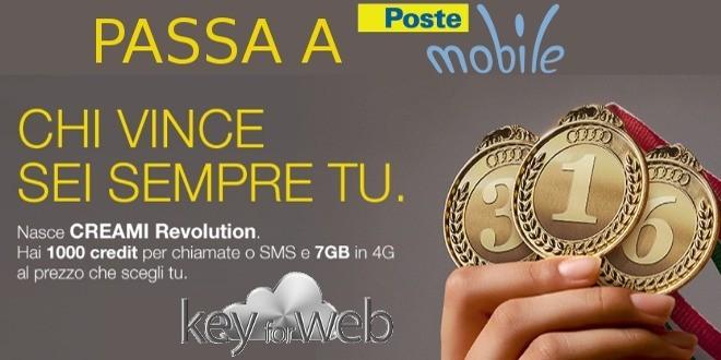 Nuova promozione maggio PosteMobile Creami Revolution: scegli tu rinnovi e prezzi