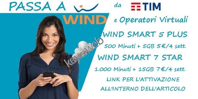 Offerte maggio per passare a WIND da TIM e Operatori Virtuali a partire da 5€, link ai codici coupon
