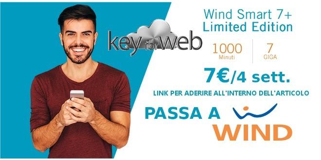 Torna attiva la migliore offerta passa a Wind online: 1000 minuti +7GB a 7€, link per aderire