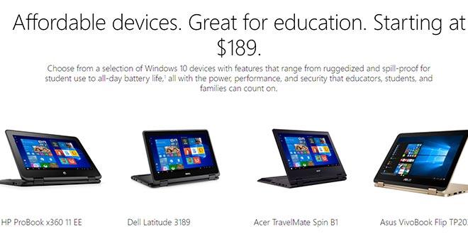 Arrivano i primi notebook e convertibili Windows 10 S a prezzi competitivi