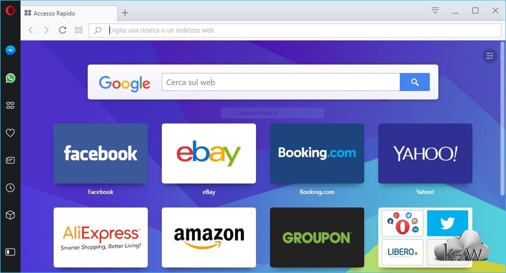 Opera browser si aggiorna su desktop con servizi di messaggistica integrati
