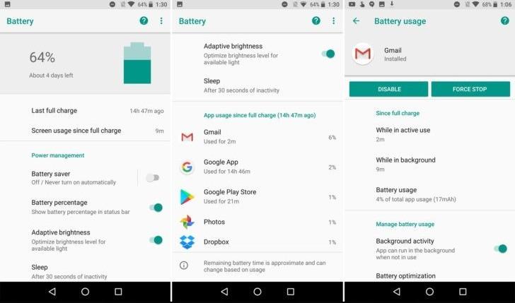 Android O batteria